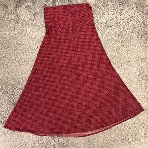 LuLaRoe Printed Maxi Skirt